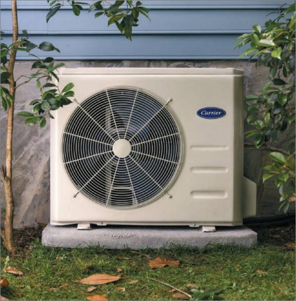 Carrier Ductless Outdoor Unit On A Pad