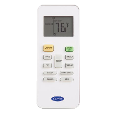 Carrier Ductless Mini-Split Remote Control