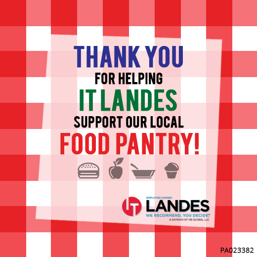 IT Landes Makes Donation To Keystone Opportunity Center's Food Pantry Following Successful Campaign
