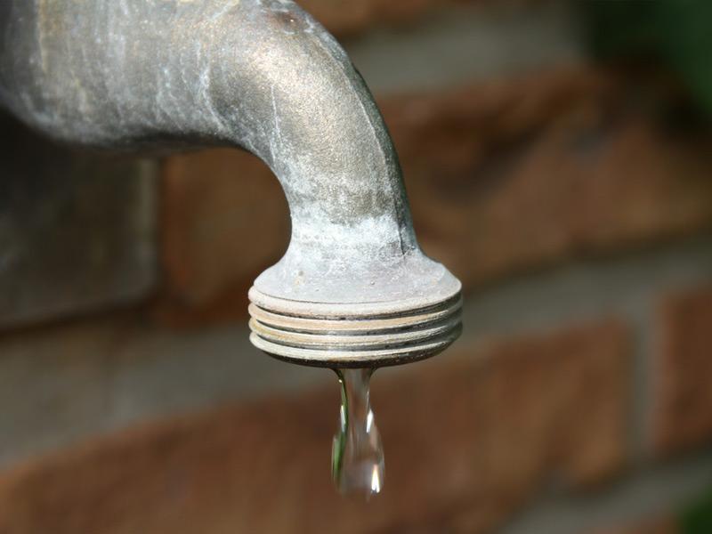 Leaking Outdoor Water Spigot