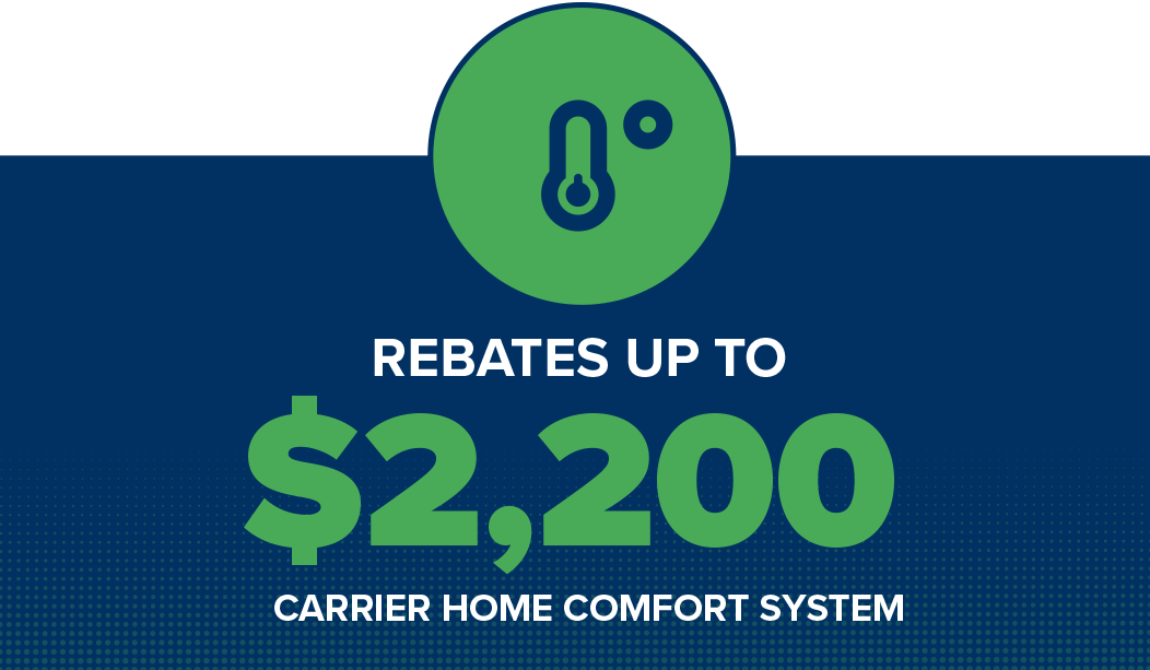 Carrier Home Comfort System Rebates up to $2,200