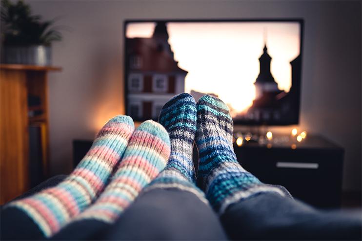 couple enjoying a cozy warm home
