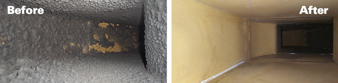 IT Landes Duct Cleaning | Before & After