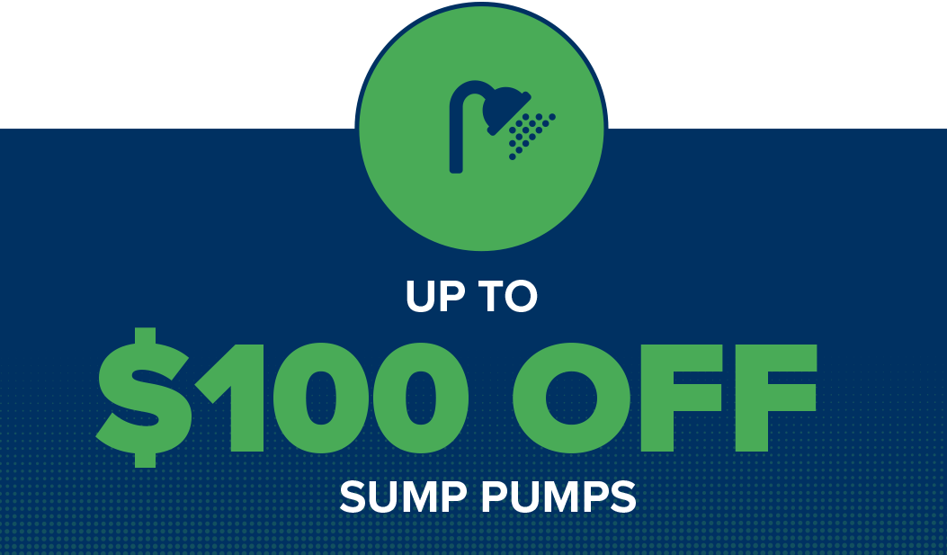 Save up to $100 on a sump pump backup combo or $50 on a sump pump with IT Landes Home Service Team